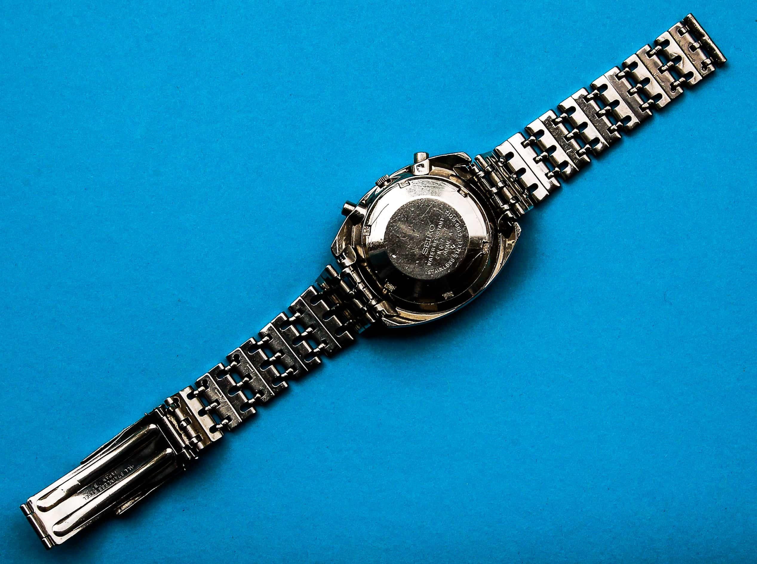 seiko chronograph 6139 6012 on an original bracelet. Black Bedroom Furniture Sets. Home Design Ideas