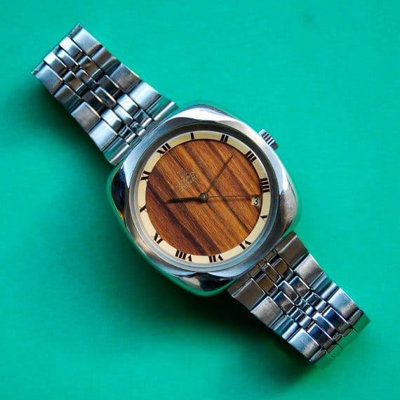 Wooden Zenith Movado cal 2572PC-8