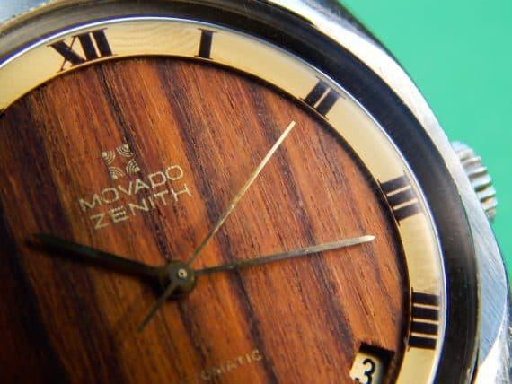 Wooden Zenith Movado cal 2572PC-9
